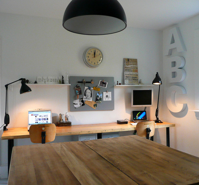 Office Eclectic Room: Vintage Cabin Tech Tour : Apartment Therapy