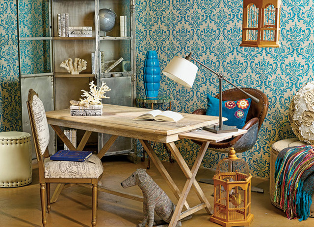 vintage chic office eclectic home office chic vintage home office