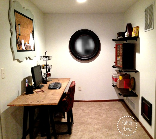 Vintage Industrial DIY Home Office Industrial Home Office