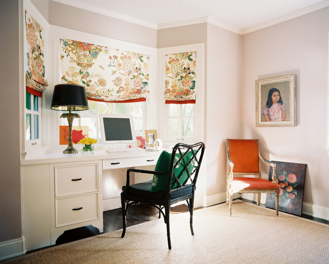 Inspiration For An Eclectic Built In Desk Home Office Remodel In San  Francisco
