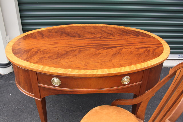 vintage oval art deco desk with chair 1920s home office art deco office chair