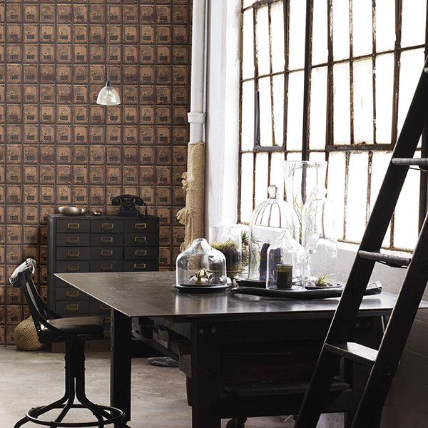 Home office - industrial home office idea in Boston