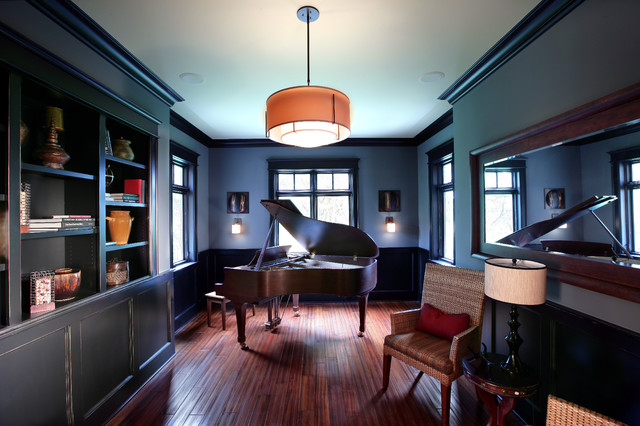 Music Room Contemporary Home Office Grand Rapids