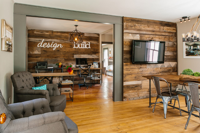 Wakefield design studio industrial home office for Office design houzz