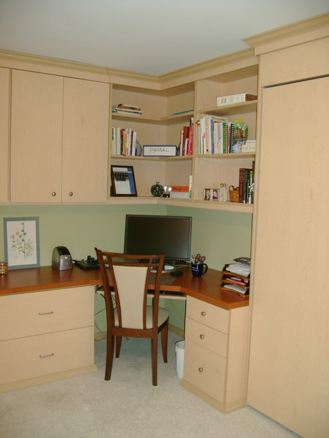 Wall Bed Home Office traditional-home-office