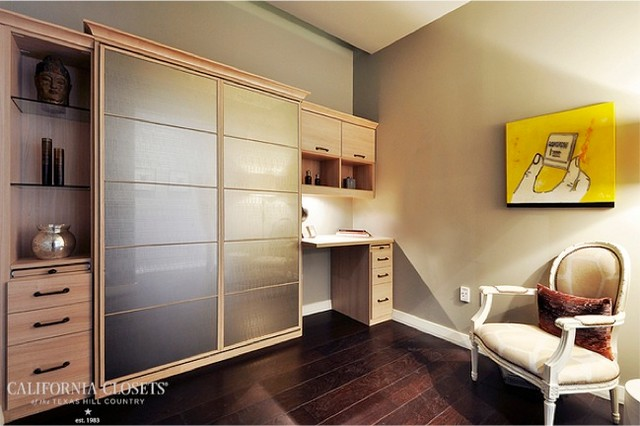 Wall bed home office combo contemporary home office for Italian wall bed system