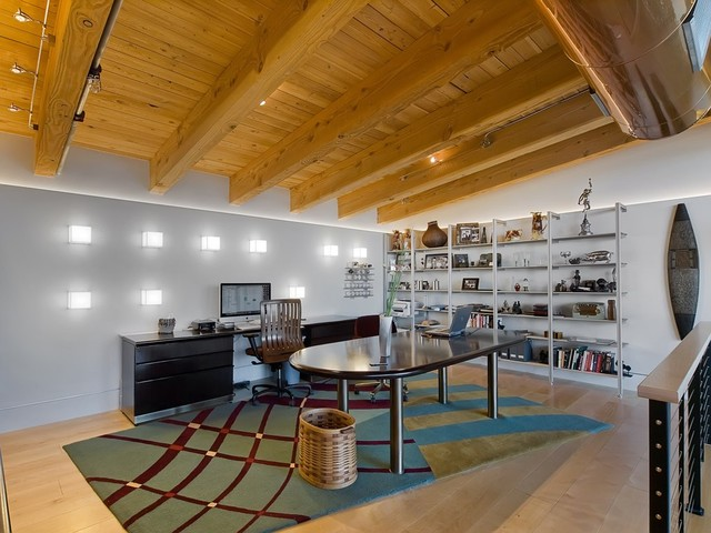wall of light industrial home office denver by 186