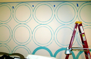 Wall Treatment Made From A Pizza Box-DIY eclectic home office