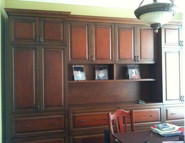 Wall Units Traditional Home Office Toronto By
