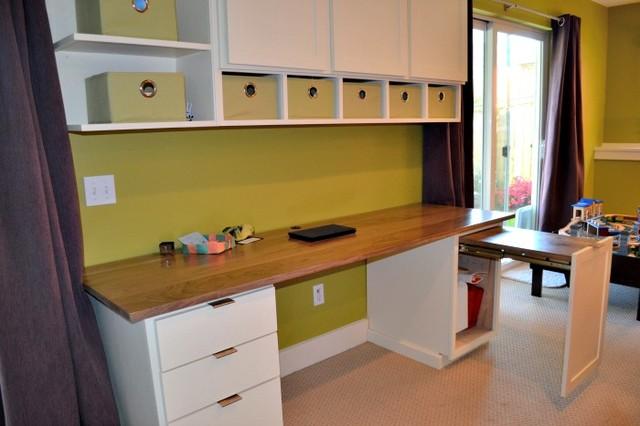 wallingford basement contemporary home office basement home office