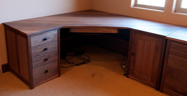 Walnut Desk Set Arts And Crafts Home Office Library
