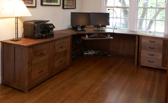 Walnut office craftsman-home-office