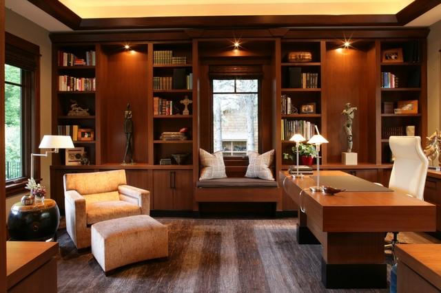 Wayzata Residence Contemporary Home Office