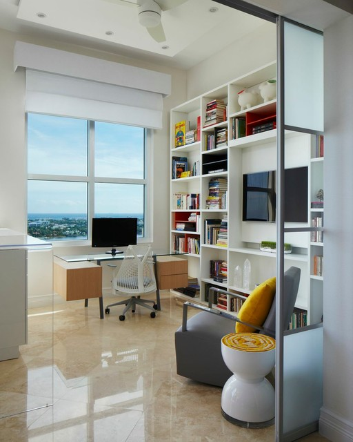 West palm beach penthouse by britto charette interiors for Houzz corporate office