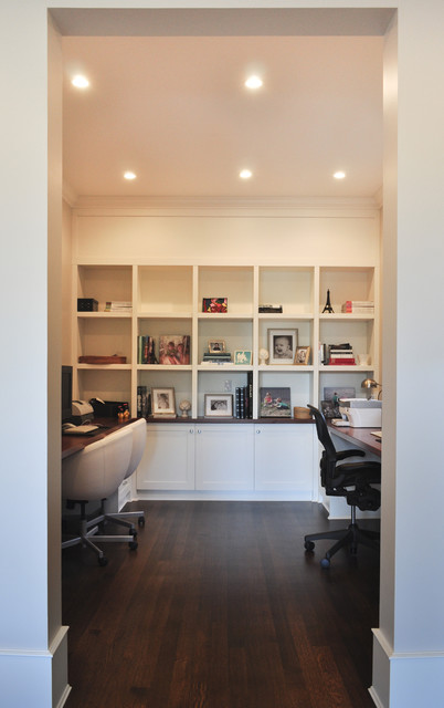 West Side Custom Home traditional-home-office