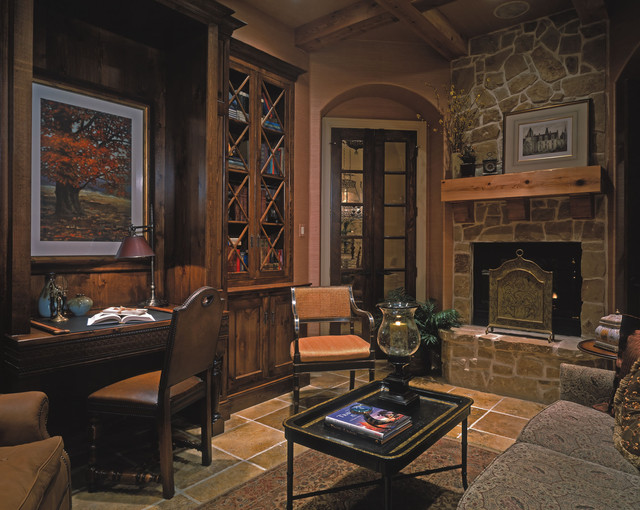 Westcott manor plan 9257 den library traditional home office omaha by design basics - Traditional home office design ...
