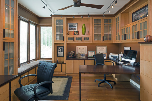Home Office Layout Ideas: Western Run-study For Two