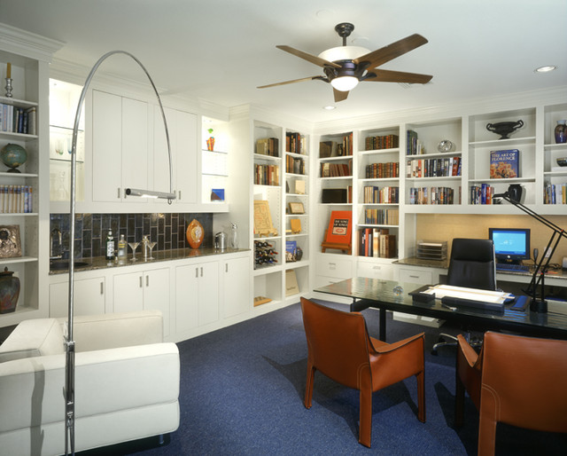 Westlake mid century modern study modern home office for 60s office design
