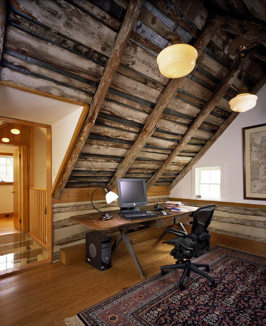Wheatland Farms Log Cabin Rustic Home Office And Library