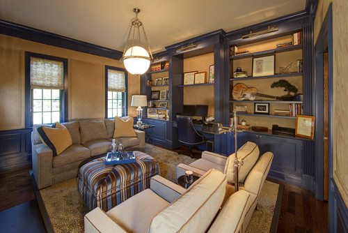 Home Office by Chagrin Falls Design-Build Firms W Design Interiors