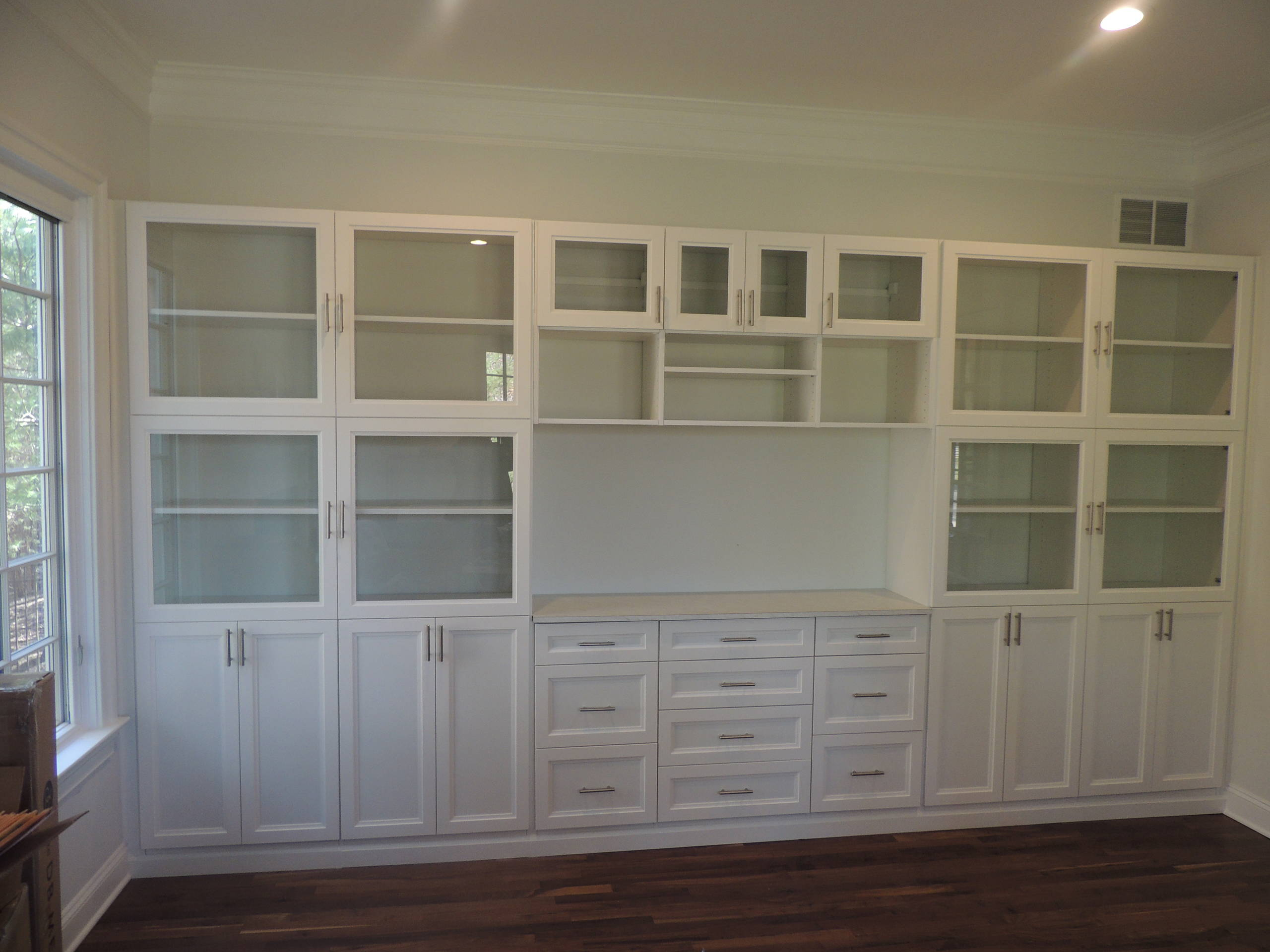 White Home Office Wall Unit