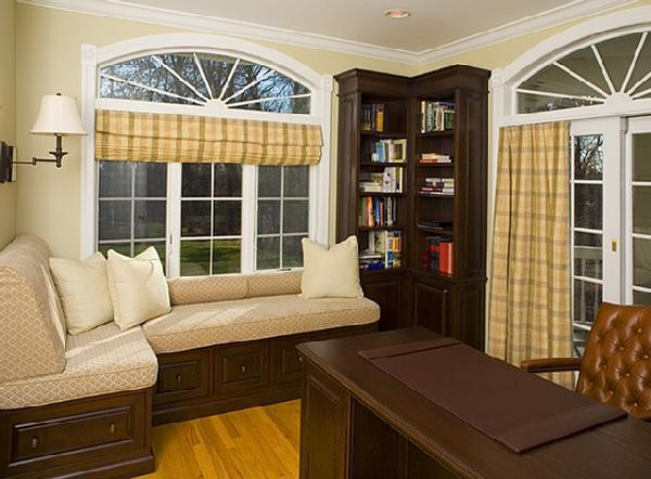 Window treatments contemporary home office new york by dw