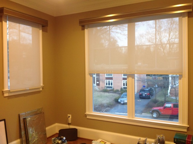 Window Treatments Contemporary Home Office Dc Metro