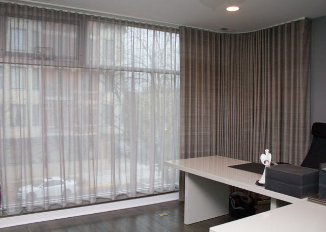 Window Treatments Contemporary Home Office Chicago