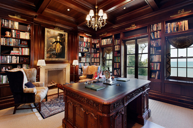 Winnetka Private Residence 1 Mediterranean Home Office
