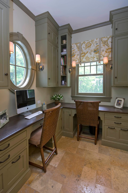 home office in kitchen. winnetka residence office off kitchen traditionalhomeofficeandlibrary home in