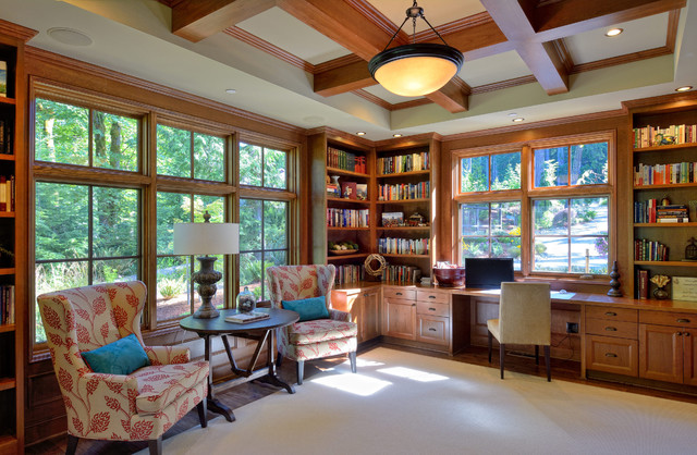 Wooded Highlands By Design Guild Homes Arts And Crafts Home Office