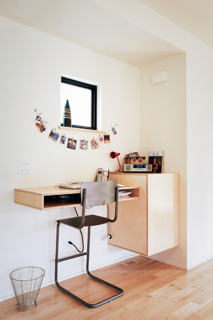 Home office nook Closet Houzz The Home Office Nook File It Under space Saver