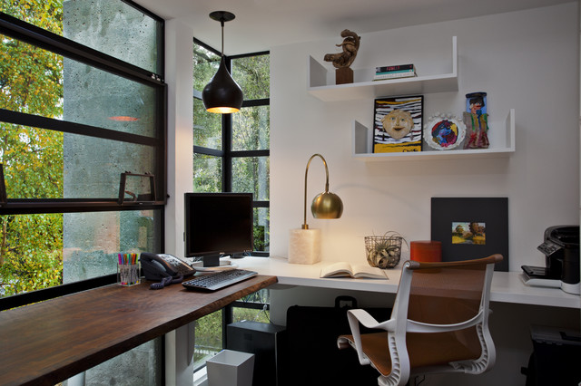 Bon Trendy Built In Desk Home Office Photo In San Francisco