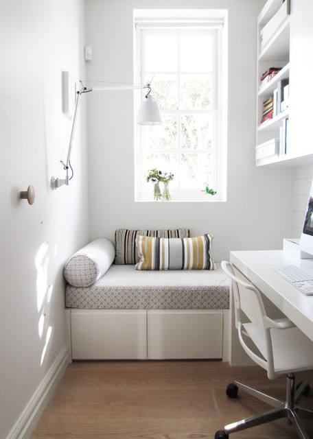 contemporary home office by anna carin design bedroom guest office combination