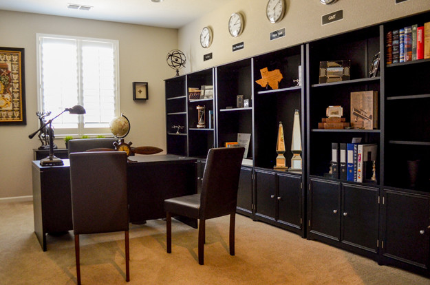 High Flying Bachelor Pad contemporary-home-office