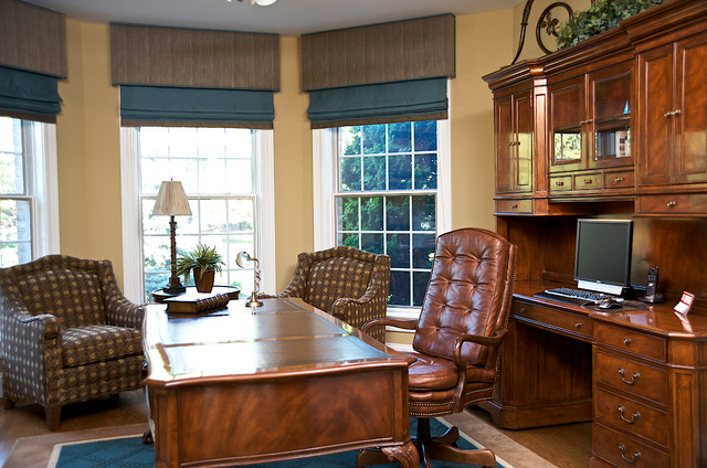 Wye Island traditional-home-office
