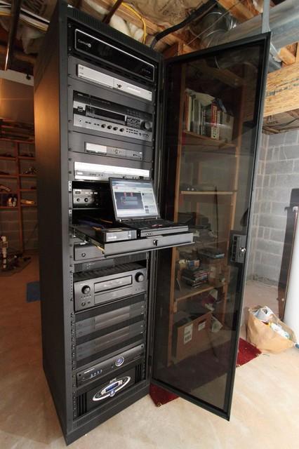 1 Sound Choice A/V Racks - Traditional - Home Theater - New York ...