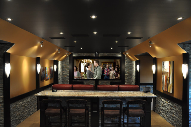 18 Theater - Contemporary - Home Theater - Toronto - by H2 ... on diy home bar designs, home theatre room designs, home beach bar designs, home theatre wall designs, home wine bar designs, home sports bar designs, home theatre interior design,