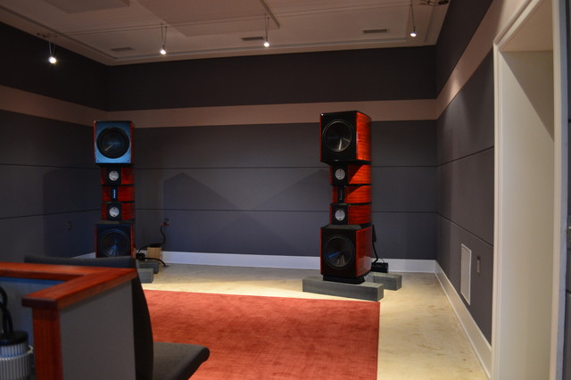 2 channel listening room front view contemporary home theater philadelphia by synergy - Channel home design ...