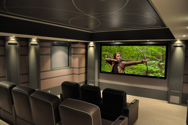 CEDIA Award Winning Custom Home Theatre Contemporary Home Theater