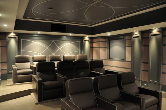 2013 CEDIA Award Winning Custom Home Theatre Contemporary Home Theater