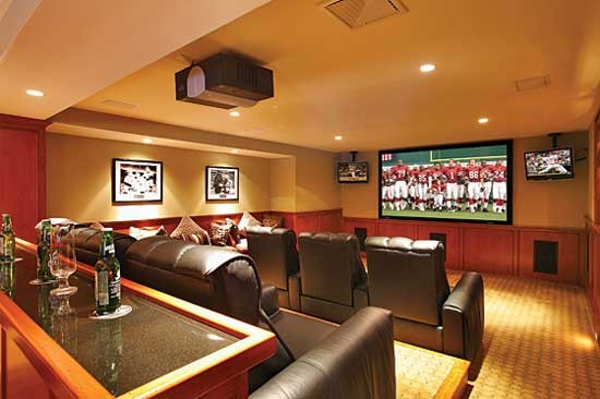 harley davidson garage decorating ideas - 3 Tier Home Theaters Traditional Home Theater