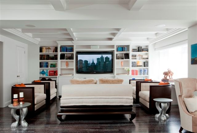 5th Avenue for a young couple contemporary-home-theater