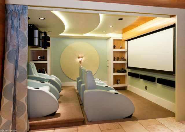 Modern Home Theater A Dream Renovation In The Beautiful Okanagan Valley Modern On Home Theater
