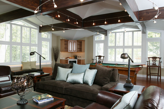 Man Cave Decor Houzz : A modern day man cave contemporary home theater