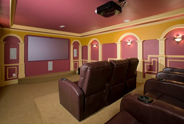 A Movie Theatre In The Basement Modern Home Theater Dc Metro By Michael Nash Design Build Homes