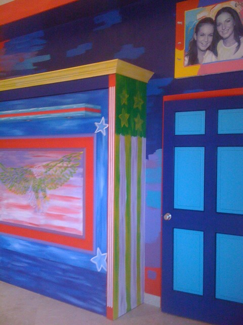 A room for Peter Max contemporary-home-theater