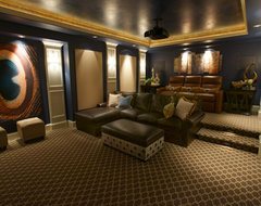 A Theater That Feels Like a Family Room transitional-home-theater