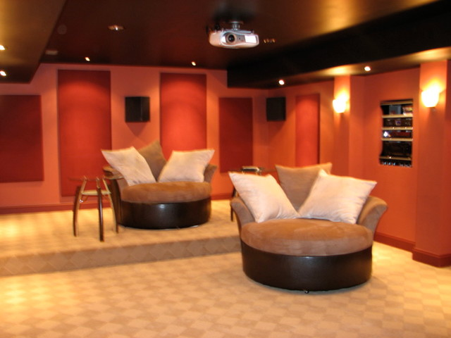 Acoustical Solutions For Home Theater : Acoustical panels contemporary home theater richmond