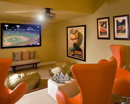 Kid's Media Room Design Ideas, Pictures, Remodel, and Decor